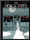 The New Yorker Cover - December 9, 2013 Mounted Print by Istvan Banyai
