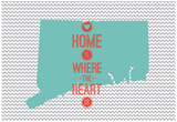 Home Is Where The Heart Is - Connecticut Prints