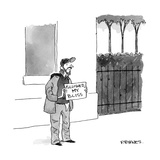 "A homeless man holds a sign that says 'Followed my Bliss.' "" - New Yorker Cartoon Premium Giclee Print by Pat Byrnes"