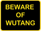 Beware of Wutang Stretched Canvas Print