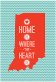 Home Is Where The Heart Is - Indiana Prints
