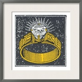 This Diamond Ring Art by  Print Mafia