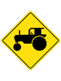 Tractor Crossing Sign Poster Print
