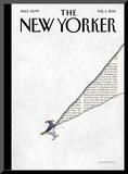 The New Yorker Cover - February 4, 2013 Mounted Print by Birgit Schössow