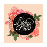 Spring is in the Air - Flowers Quote Poster by  ONiONAstudio