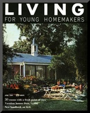 Living for Young Homemakers Cover - April 1958 Mounted Print by Nowell Ward