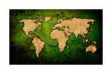World Map Vintage Artwork Prints by  ilolab