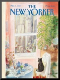 The New Yorker Cover - March 1, 1982 Mounted Print by Jean-Jacques Sempé