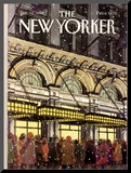 The New Yorker Cover - January 18, 1988 Mounted Print by Roxie Munro