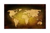 World Map Vintage Artwork Art by  ilolab