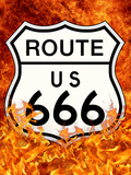 Route 666 Highway to Hell Poster Print Prints