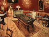 Vincent Van Gogh Night Cafe with Pool Table Art Print Poster Posters