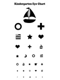 Kindergarten Eye Chart Reference Poster Art