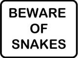 Beware of Snakes Prints