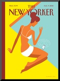 The New Yorker Cover - August 9, 2010 Mounted Print by Christoph Niemann