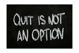 Quit is Not an Option Prints by  airdone