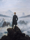 Caspar Friedrich Wanderer Above the Sea of Fog Art Print Poster Print