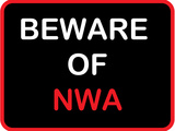 Beware of Nwa Stretched Canvas Print