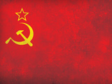 Soviet Flag Distressed Art Print Poster Affiche