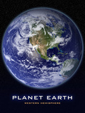 Planet Earth from Space Western Hemisphere Photo Poster Posters