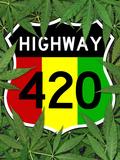 Highway 420 Marijuana Sign Poster Print Plakat