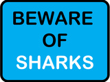 Beware of Sharks Poster