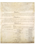 U.S. Constitution Page 4 Art Poster Print Print