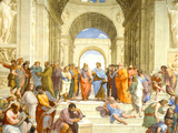 Raphael (The School of Athens) Restored Art Poster Print Prints