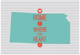 Home Is Where The Heart Is - Kansas Kunstdrucke
