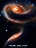 Rose Galaxies Hubble Space Photo Poster Print Print