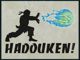 Hadouken Video Game Poster Affiches