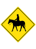 Horse Crossing Sign Poster Prints