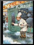 The New Yorker Cover - January 27, 2014 Mounted Print by Peter de Sève