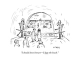 """I should have known—I hate the beach."" - New Yorker Cartoon Premium Giclee Print by David Sipress"
