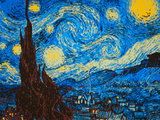 8-Bit Art the Starry Night Prints