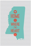Home Is Where The Heart Is - Mississippi Poster