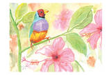 Tropical Perch II Art by Beverly Dyer