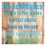Beach Rules 2 Poster by Sheldon Lewis