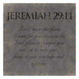 Jeremiah 29-11 Prints by Jace Grey