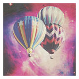Pink Balloons In Space Affiches par Ashley Davis