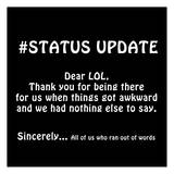 Status Update 2 Posters by Sheldon Lewis