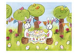 Easter Egg Tea Prints by Erin Butson