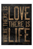 Love Life Brown Poster by Jace Grey