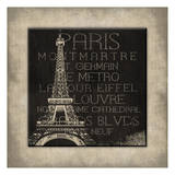 Paris Type Posters by Jace Grey