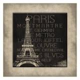 Paris Type Posters by Jace Grey