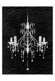 Black Chandelier 1 Print by  OnRei