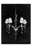 Black Chandelier 2 Prints by  OnRei