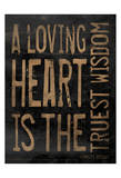 Loveing Heart Brown Prints by Jace Grey