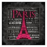 Paris Type Prints by Jace Grey