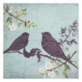 Floral Bird Triptych Prints by Taylor Greene